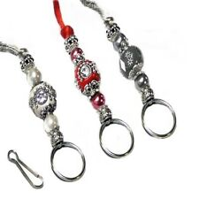 Cord or Chain Lanyard, reading glasses, keys, id badge holder, Indonesian bead