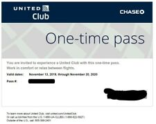United Airlines UA Club One-Time Pass E-Delivery in 2 hours (Expires 11/20/2020)