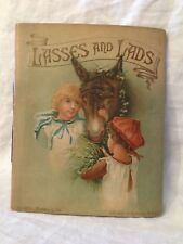 Chromolithograph, Monotint - Lasses and Lads, 1888, Edith Berkeley / Theo Gift