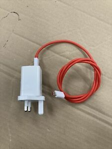 Genuine One Plus UK Charger Plug AdapterType-C USB Cable DC0504B4GB