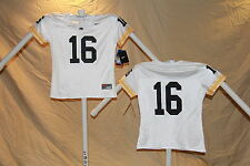 IOWA HAWKEYES  Nike #16 FOOTBALL JERSEY  Womens XSmall  NWT  $55 retail  white