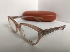 New Missoni MI 291 MI291 04 53mm Clear Pink Rx Women's Eyeglasses Frame Italy