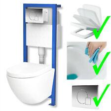 All-In-One Lavita Vorwandelement + Wand WC ohne Spülrand + WC-Sitz Soft-Close