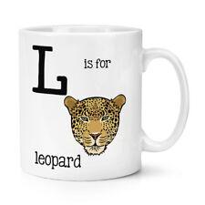 L Is Per Leopardo 10oz Tazza - Divertente Animale