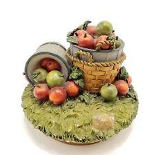 Home Interiors & Gifts HOMCO Bushel Basket Of Apples Candle Jar Topper