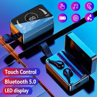 Bluetooth 5.0 Kopfhörer TWS In-Ear Kabellos Sport Headset für Samsung iPhone