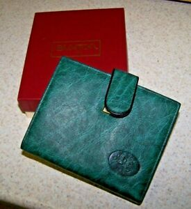BUXTON Ladies' CLUTCH WALLET - Green - Genuine Leather! - NEW!