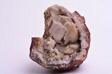 CALCITE in QUARTZ HEMATITE Geode Crystal Mineral Rock Specimen GERMANY DLL950
