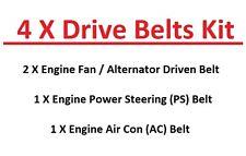 Fits Navara D22 Pick Up 2.5TD Engine Fan/Alternator+PS+AC Drive Belts (11/2001+)