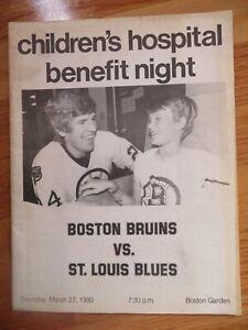 BOSTON BRUINS vs ST LOUIS BLUES Mar 27 1980 CHILDREN'S HOSPITAL BENEFIT Program