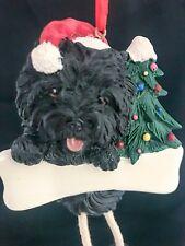 Black Cairn Terrier Christmas Ornament