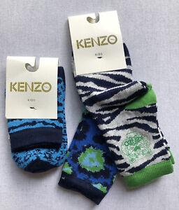 3x BNWT New Kids Kenzo Socks, Age 5-8yrs (27-30)