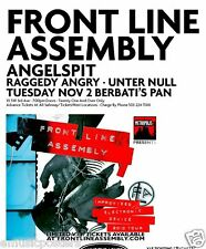 FRONT LINE ASSEMBLY 2010 PORTLAND CONCERT TOUR POSTER- Electro-Industrial Music