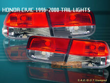 96-00 HONDA CIVIC TAIL LIGHTS RED/CLEAR 2DR COUPE 98 99