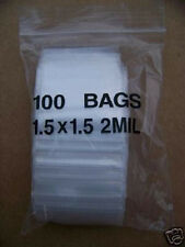 PLASTIC BAG 1.5X1.5 zip lock clear small item poly 100