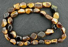 Freeform Polished Nugget Natural Golden Tigereye Tigers Eye Beads 15 Inch Strand