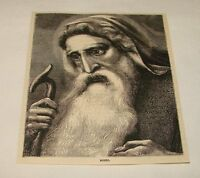 1880 magazine engraving ~ MOSES
