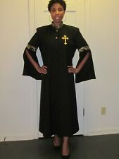 Women Clergy Robe Black, NEW sizes 4 to 24 (Available in other Colors & Sizes)
