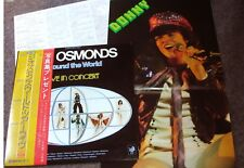 "OSMONDS ""Around The World Live"" 1976 Japan 2Lp w/Obi/lyrics/PIN UP! DONNY OSMOND"
