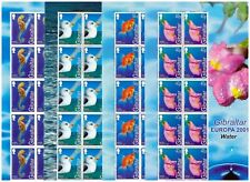 Gibraltar MNH 2001 EUROPA Stamps  Water Nature set sheets mint  stamps