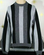 New listing Vintage 50s Mens Penney Sweater Black Gray Atomic Rockabilly Sweater Medium