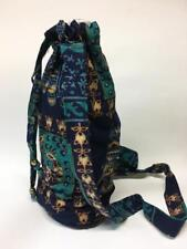 Hippie Napthal Block Print India Festival Water Bottle Bag Carrier Pouch Blue
