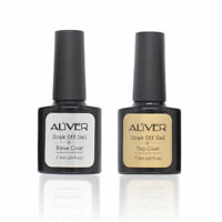 Aliver Nail Line Top Coat and Base Coat Nail Gel Polish Professional UV LED Gel