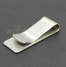 10PC Stainless Steel Slim Money Clip Cash Credit Card THICK Lot Wholesale Silver