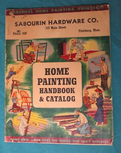 1943 Catalog SHERWIN-WILLIAMS PAINTS - Sabourin Hardware Co. FITCHBURG MASS.