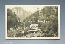 AK SÄCHS. SCHWEIZ MÜHLE im POLENZTAL um 1925