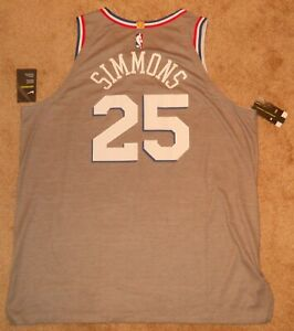 Ben Simmons Philadelphia 76ers City Authentic Jersey sz 56 Nike New w/ tags Mens