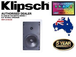 """Klipsch R-1650-W II 140 Watts 6.5"""" In-Wall Speaker (Series 1) RRP: $199"""