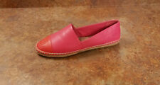 New! Tory Burch 'Colorblock' Espadrille Flats Pink Red Womens Size 5 M MSRP $198