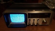 "1980s Portable RCA 5"" TV+AM+FM Radio+Alarm Combo Vintage Retro Hipster USED"