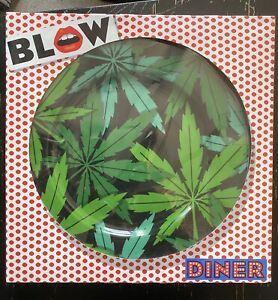 New! SELETTI BLOW JOB Cannabis Weed Leaf Porcelain Dinner Plate Decorative 27cm