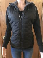 Womens Free Country Reversible Quilted Lightweight Vest Pockets Medium