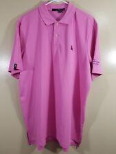 RLX Ralph Lauren Mens Golf Polo Short Sleeve Shirt Pink Size XL