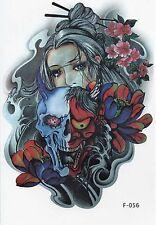Temporary Tattoo Body Tattoo Fake Tattoo Devils Babe 16x11cm wasserfest F-056