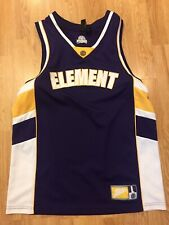 Vintage Element Skate Basketball Jersey Spellout Terry Kennedy Large Vtg Lakers