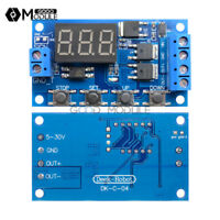 Trigger Cycle Timer Delay Switch 12 24V Circuit Board Dual MOS Tube Control