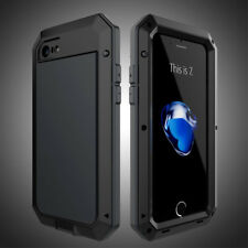 For iPhone Xs Max XR X 8 Metal Shockproof Aluminum Heavy Duty Glass Case Cover