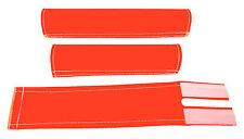 FLITE old school BMX padset foam racing pads BLANK BLANKS *USA MADE* NEON ORANGE