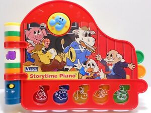 VTECH STORYTIME PIANO 5 LIght-Up Keys 12 Classic Tunes Read-Along Story