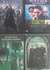 4 MATRIX DVDS: THE MATRIX(1999),RELOADED,REVISITED & REVOLUTION