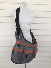 Diaper Dude Bag Men's Cross Body Dad Sporty Messenger Zipper Gray Baby Bag Carry