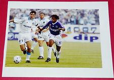 PHOTO PRO FOOTBALL 1998-1999 OLYMPIQUE MARSEILLE OM AJ AUXERRE AJA PIRES DIOMEDE