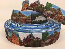 """BTY 1"""" Disney World Mountains Grosgrain Ribbon Scrapbooking Lanyards Lisa"""