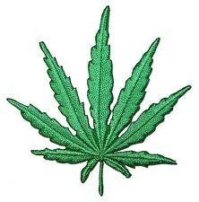 Pot Leaf Marijuana Cannabis Hemp Plant Embroidered Iron On Applique Patch 0597