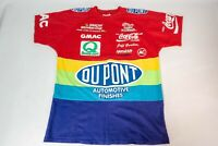 Vintage 90S DuPont Nascar Rainbow T Shirt All Over Print USA Jeff Gordon Mens M
