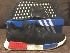 2015 ADIDAS NMD R1 OG RELEASE BLACK/RED/BLUE Sz 12 US